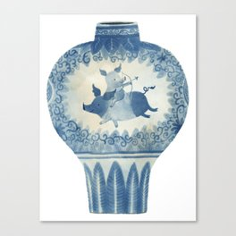 Pig Vase Canvas Print