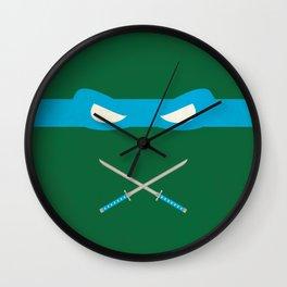 Blue Ninja Turtles Leonardo Wall Clock
