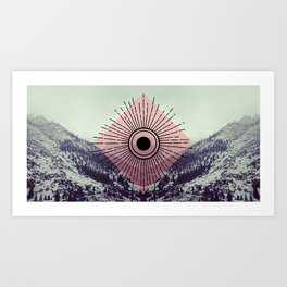 Mountains With Pink Art Print