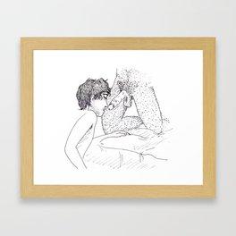 De Joelhos Framed Art Print
