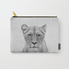 Lioness - Black & White Carry-All Pouch