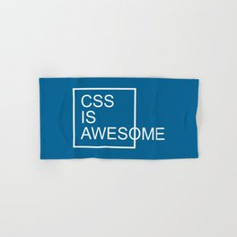 CSS Is Awesome Funny Geek Quote Hand & Bath Towel