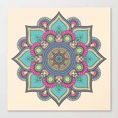 Colorful Floral Mandala Canvas Print