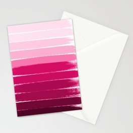 Mola - ombre painting bruskstrokes tonal gradient art pink pastel to hot pink decor Stationery Cards