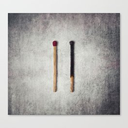 two matches closeup Canvas Print