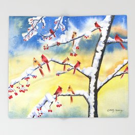 Winter Song 2 Throw Blanket