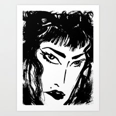 M with bangs Art Print