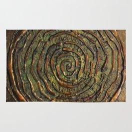 """Warrior"" Textured Acrylic Abstract Painting Rug"