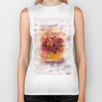 flora Biker Tanks featuring Flora  by Music of the Heart
