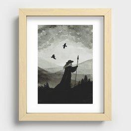 Odin, Huginn and Muninn. Recessed Framed Print