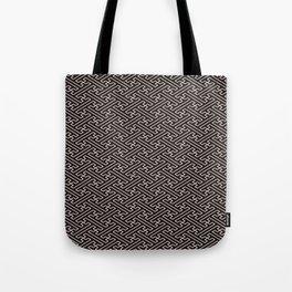 Black Auspicious Sayagata Japanese Kimono Pattern Tote Bag