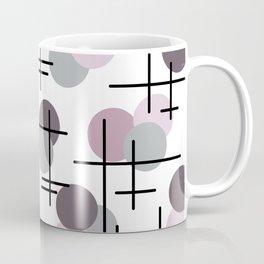 Atomic Age Molecules 5 Mauve Lavender Coffee Mug