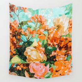 Blush Garden #painting #nature #floral Wall Tapestry