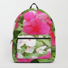 Pink & White Backpack