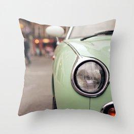 The green car Throw Pillow