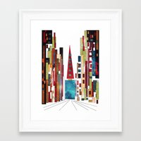 buildings Framed Art Prints featuring Buildings by March Hunger