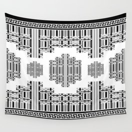 Greek Key - Black and White 3 Wall Tapestry