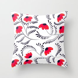 Beauty simple seamless floral pattern swirl Throw Pillow
