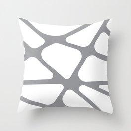Unique gray and white organic design Throw Pillow