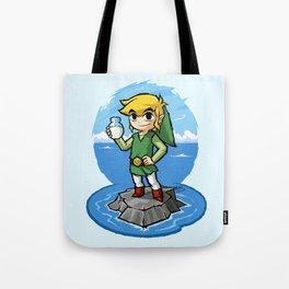 Legend of Zelda Wind Waker Bottle of Milk T-Shirt Tote Bag
