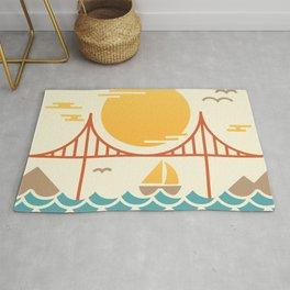 San Francisco Golden Gate Bridge Illustration Rug