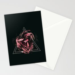 A flower in a triangle Stationery Cards