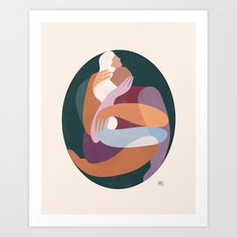 Dreamers no.8 (embrace) Art Print
