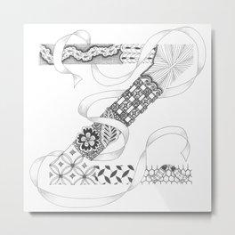 "Zenletter ""Z"" Metal Print"