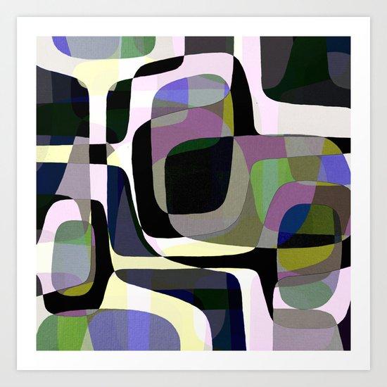 Mid Century Abstract 2 Art Print