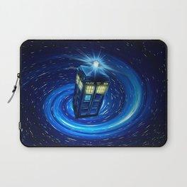 Tardis Blue Vortex Laptop Sleeve