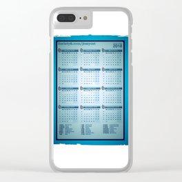 Aqua swirls,2018 calendar Clear iPhone Case