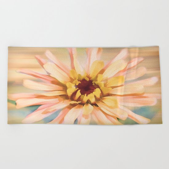 Sunset Zinnia Beach Towel