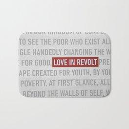 Love in Revolt Bath Mat