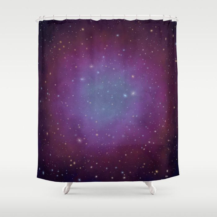 Space scenery Shower Curtain