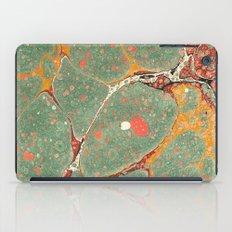 Marbled Green Orange 2 iPad Case