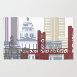 Sacramento skyline poster Rug