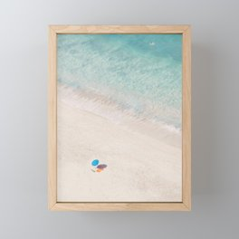 The Aqua Umbrella Framed Mini Art Print