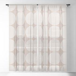 Circular Minimalism - Warm Neutral Sheer Curtain