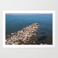 Salt Lake Scenery III Art Print