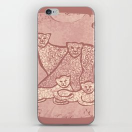 Family Cheetahs iPhone Skin