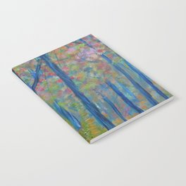 Impressionism Tree Forest, Modern Home Decor, Tree Art Notebook