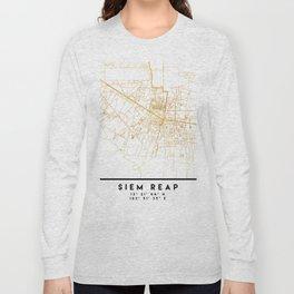 SIEM REAP CAMBODIA CITY STREET MAP ART Long Sleeve T-shirt