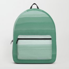 Touching Green Watercolor Abstract #1 #painting #decor #art #society6 Backpack