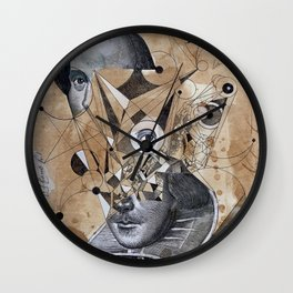 SHAKESPEARE AS AN ABSTRACT CONCEPT Wall Clock