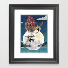 Flying Bicycle Framed Art Print