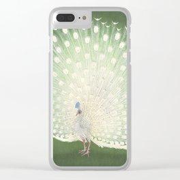 Peacock, Ohara Koson - Japanese Woodcut Clear iPhone Case