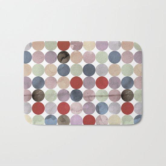 Winter Polka Dots Bath Mat