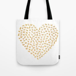 Cats Lover Heart Tote Bag