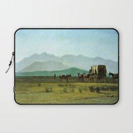 Surveyor's Wagon in the Rockies Laptop Sleeve