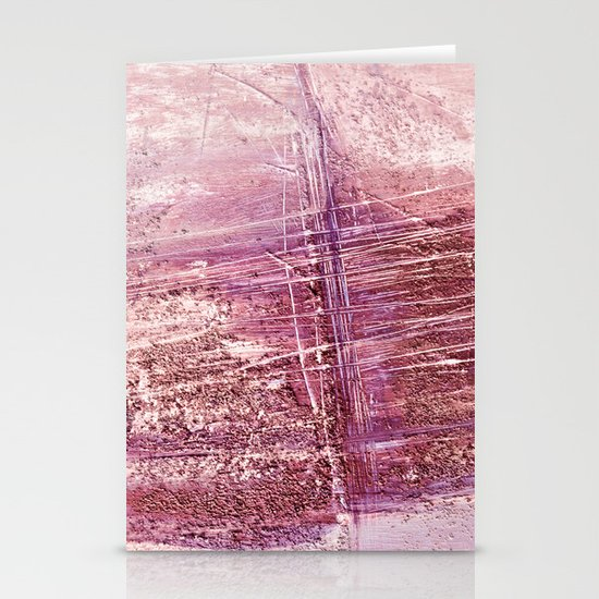 dusty pink abstract Stationery Cards